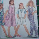 Girls Easy to Sew Jumper Dress Pants or Shorts Jumpsuit & Shirt Sewing Pattern 8311