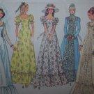 Misses Vintage 1970's Hippie Wedding Gown Bridesmaids Prom Evening Dress Uncut Sewing Pattern 6888