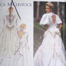 Misses 10 12 14 Jessica McClintock Wedding Gown Bride Dress Uncut Sewing Pattern Simplicity 8176