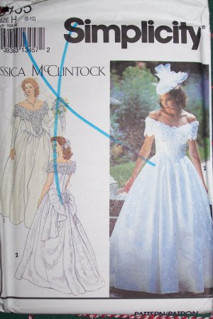 Cashier Check Wedding Gift : ... Jessica McClintock Wedding Gown Brides Dress Sewing Pattern 6 8 10