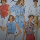 Uncut Simplicity Sewing Pattern 8302 Misses Button Up Shirts 5 Variations 6 8 10 12