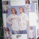 McCall's 6380 Uncut Sewing Pattern Misses 8 10 Shirts Button Up Short Long Sleeves