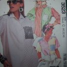 Misses 10 12 14 Shirts Shirttail Hem Button Up Uncut Vintage McCall's Sewing Pattern 3523