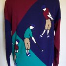 Large Mens Pullover Golf Sweater Austin Reed Links Collection Golfers on Front Putting