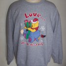 Vintage Ugly Disney Winnie The Pooh & Eeyore Ugly Christmas Party Sweatshirt XXL