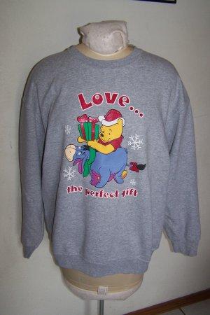 Vintage Ugly Disney Winnie The Pooh & Eeyore Ugly Christmas Party Sweatshirt XXL