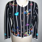Jack B Quick PM Football Cheerleader Cardigan Sweater Beads and Sequins