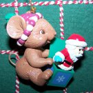 In Box Matrix Christmas Traditions Ornament Mouse Holding Santa Jack In The Box