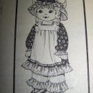 "Vintage Uncut Mail Order Stuffed 25"" Embroidered Face Doll and Outfit Sewing Pattern 792"