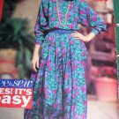 Uncut Sewing Pattern 6318 Misses Pullover Dress Blouson Dirndl Pleat Skirt Long Sleeves 6 8 10 12 14