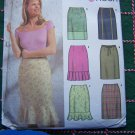 Uncut 2 Hour Sewing Pattern 9696 Misses Skirts 6 Variations Slim Flounce Pleaded Hem 4 6 8 10