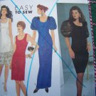 Uncut Sewing Pattern 7001 Misses Sundress Dress Slim Flapper Style or HUGE PUFF Sleeve Gown