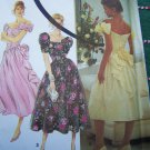 Uncut Jessica McClintock Dress Sewing Pattern 7660 Off Shoulder Shaped Waist Full Skirt 12 14 16