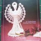 Vintage 21 Pearls and Lace Crochet Patterns Book Angels Baskets Hats Collars Candle Skirts