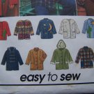 Uncut Womens L XL Sewing Pattern 9287 Jacket Coat Your Design Patches Appliques Fabric Paint
