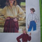Uncut 1970's Vintage Womens Raglan Sleeve Blouse Tunic Tops Sewing Pattern 8704 Free USA Shipping