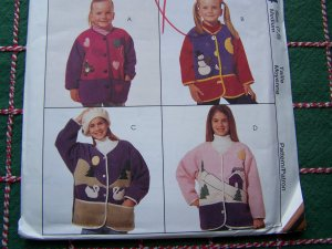 Girls 7 8 Uncut Applique Button Up Jackets McCall's Sewing Pattern 7894