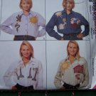 Womens 12 14 Uncut Sewing Pattern 8064 Long Sleeve Button Up Collar Appliques