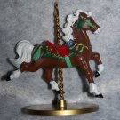 "New Hallmark Carousel Horse ""Star"" 3rd in Set 1989 Brand New Christmas Ornament"