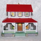 "New 1991 Metal Hallmark Keepsake Ornament ""Farm House-Town & Country"" Pressed Tin"