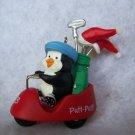 """New Hallmark Keepsake Golf Ornament """"Putt Putt Penguin"""" Christmas Golf Cart 1993"""