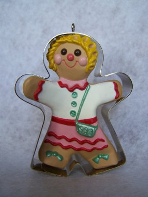 """New Hallmark Keepsake Christmas Ornament """"Clever Cookie"""" Gingerbread In Cookie Cutter 1993"""