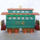 "New Hallmark Keepsake Christmas Ornament Train ""Passenger Car"" 3rd in Series 1991"