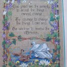 1989 Vintage Dimensions Prayer for Serenity Counted Cross Stitch Craft Kit Linen Fabric