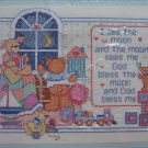Vintage From the Heart I SEE THE MOON Nursery Rhyme Counted Cross Stitch Craft Kit