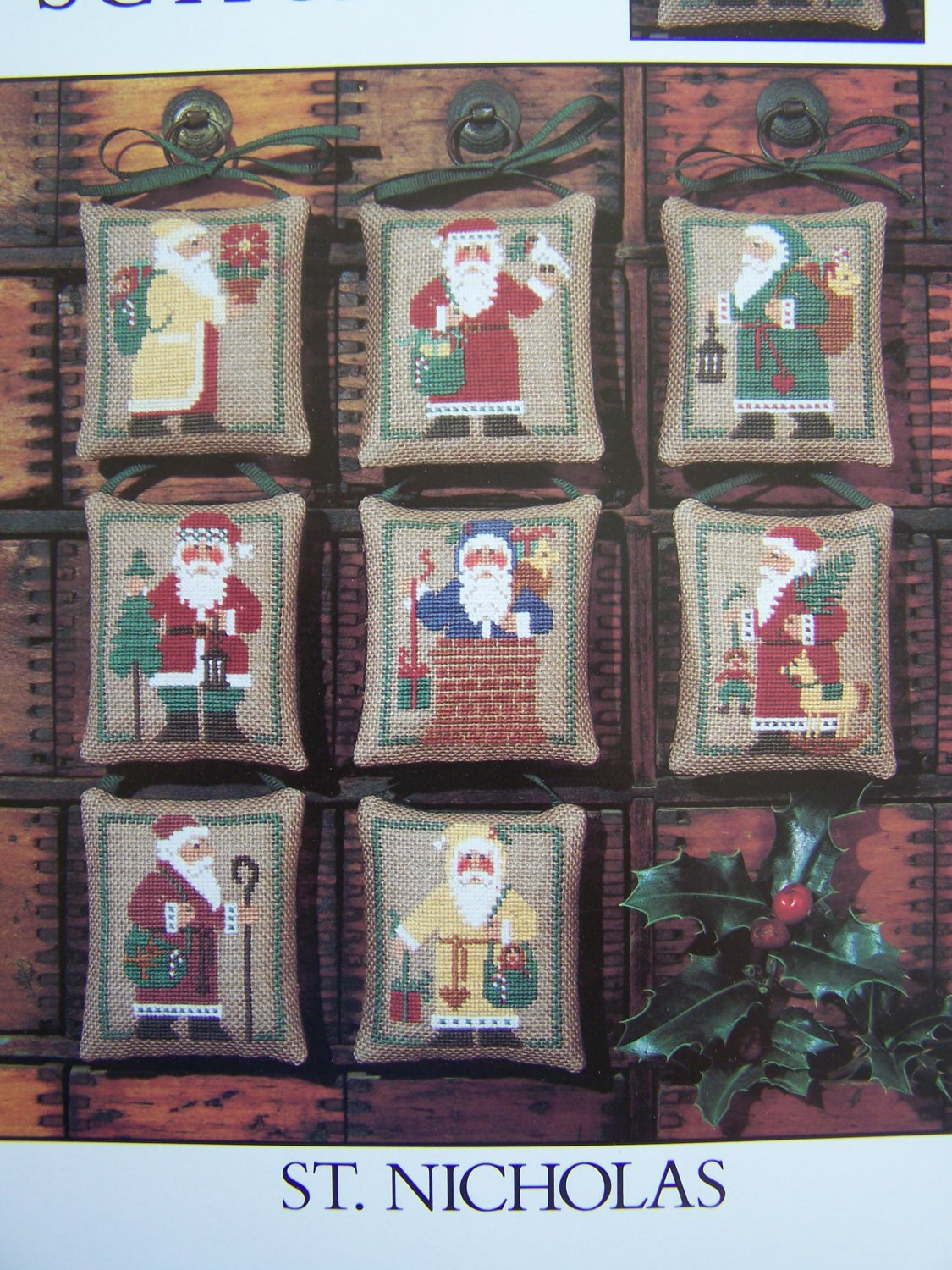 Vintage The Prairie Schooler Book 20 Cross Stitch Ornaments St Nicholas Old World Santa