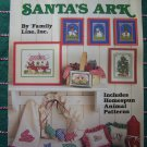 1980s Leisure Arts 618 Santa's Ark Cross Stitch Patterns + Homespun Animal Ornaments