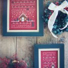 2 New Christmas In the Valley Cross Stitch Sampler Patterns Blue Whale Designs