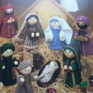 Vintage Knitting Patterns Christmas Nativity Set Jesus Mary Joseph Shepherd Wisemen Angel
