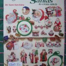 50 Santa Cross Stitch Patterns 3616 Sam Hawkins Ornaments Borders Ties Free USA Shipping