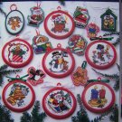 16 Cross Stitch Christmas Ornaments Great Big Graphs Reindeer Penguin Elf Bells Candles +