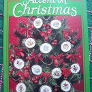 Leisure Arts Accent On Christmas Cross Stitch Santa Clock 12 Ornaments Crochet Candy Cane Afghan