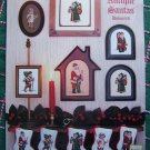 5 Antique Santa Claus Cross Stitch Patterns Free USA Shipping