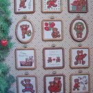 21 Vintage 80s Cross Stitch Patterns A Teddy Bear Christmas Free USA Shipping