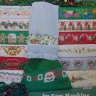 31 Vintage Christmas Cross Stitch Patterns Borders Towels USA Free S&H