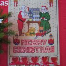 80's Vintage Christmas Advent Calendar Cross N Patch Shipping Free USA
