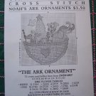 Vintage Christmas Ornament  Cross Stitch Embroidery Patterns Noah's Ark & Flying Dove