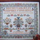 Vintage Counted Cross Stitch Sampler Pattern Remember June Roses in December