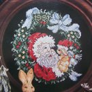 Stoney Creek Christmas Santa Plate Cross Stitch Pattern 44 Free USA S&H