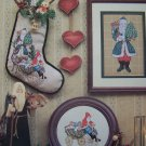 New Father Christmas Stocking Cross Stitch Patterns Old World Antique Santa