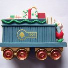 "New Hallmark Keepsake ""Claus & Co. RR"" Gift Train Car 2nd in Collection of 4 1991"