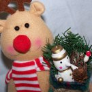 New Rudolph Reindeer Christmas Tree Topper Shelf Sitter Decoration