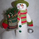 New Snowman Christmas Tree Topper Decoration Bag of Goodies Silver Bell