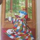 Vintage New Sealed Sunset Needlepoint Craft Kit Girl At The Window