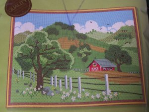 New Vintage Sunset Craft Kit Country Summer Sampler Barn Farm Rolling Hills
