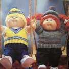 "Vintage 16"" Cabbage Patch Doll Clothes to Crochet Patterns Sweater Vest Hat Leisure Arts 379"
